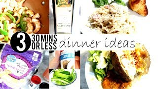 Cook With Me | 3 Dinner Ideas 30 Minutes Or Less | Cooking With Kelly