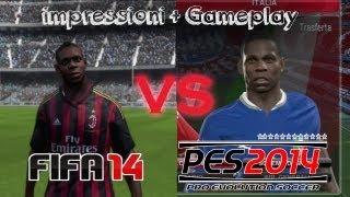 FIFA 14 VS PES 2014 - Le mie Impressioni - Gameplay + Analisi HD
