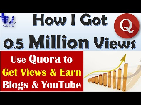 How I Got 0.5 Million Views on QUORA? My Special Method to EARN from Quora [Urdu/Hindi/English Subs]