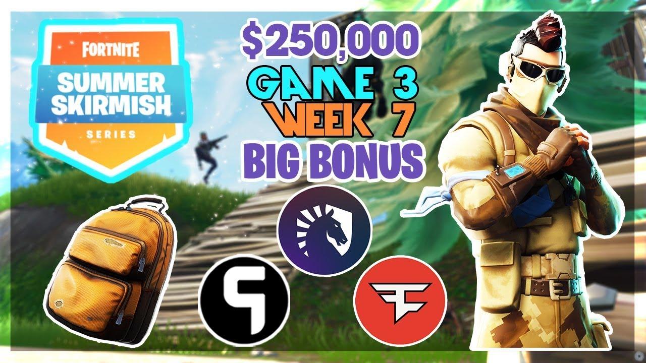250 000 Big Bonus Summer Skirmish Week 7 Game 3 Fortnite