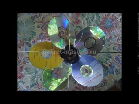 Самодельный ветряк флюгер из CD дисков своими руками / Поделки Sekretmastera
