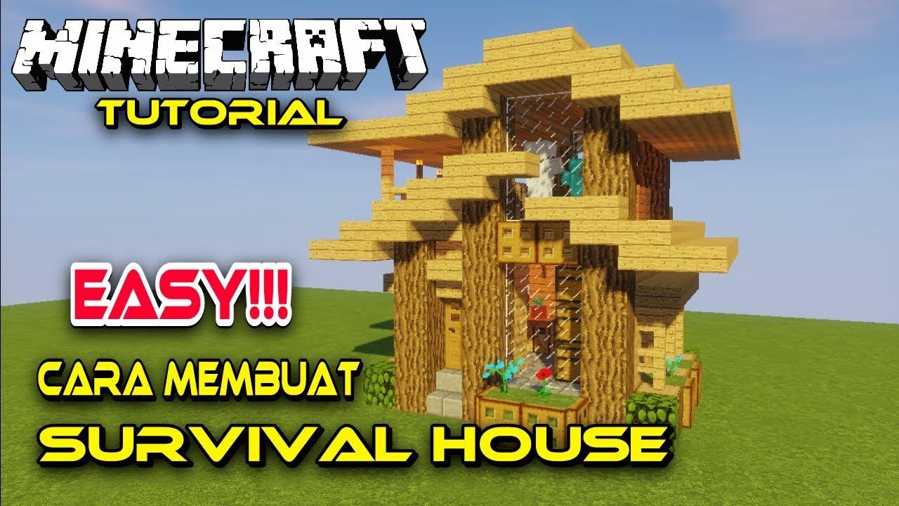 Cara Membuat Rumah Survival Minecraft,Easy!!! - YouTube