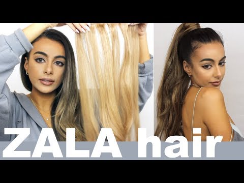 Zala HAIR EXTENSIONS AND PONYTAIL review and demo!