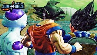 NEW JUMP FORCE TEAM DRAGON BALL GAMEPLAY SCREENSHOTS! Goku, Vegeta, Frieza, Gon, Hisoka, & MORE!