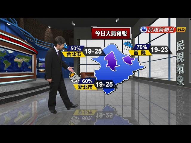 2018/12/11 週二晚起東北季風增 氣溫下降-民視新聞