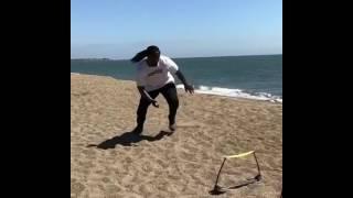 Marshawn Lynch Raiders Beach Workout