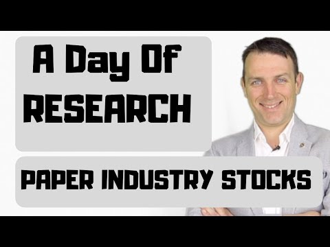 Paper Industry Stocks Research - IP, SON, WRK, Asia, Rayonier...