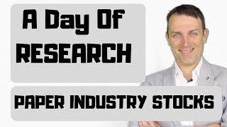 Paper Industry Stocks Research IP SON WRK Asia Rayonier