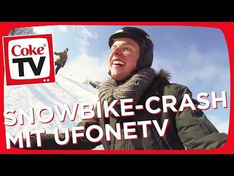 UFONETV macht den Snowbike Crashtest | #CokeTVMoment