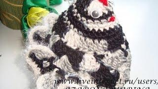 Вязаная пасхальная курочка (Без звука)