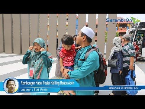 Rombongan Kapal Pesiar Keliling Banda Aceh