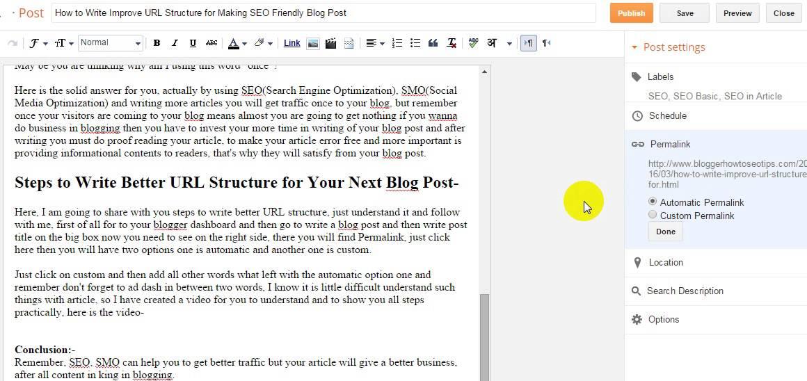 blogspot editor