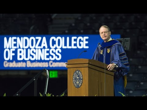 2016 Mendoza Commencement Address: Richard Notebaert
