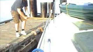 Falling off boat