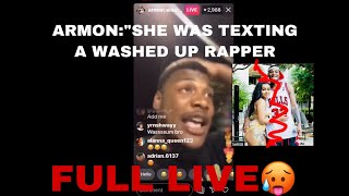 ARMON's live caught his girlfriend (amari) CHEATING #armonandtrey
