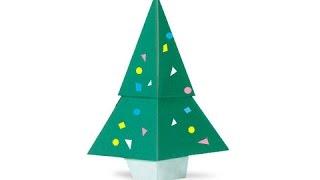 Cách gấp, xếp cây thông noel bằng giấy origami - Video hướng dẫn