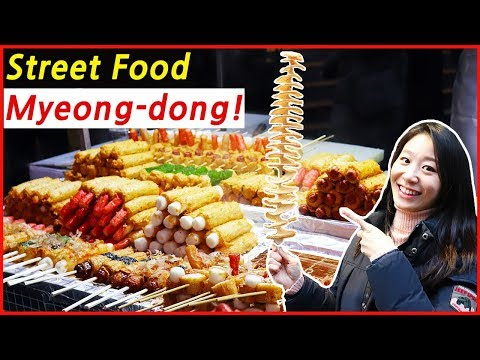 Ultimate Korean Street Food Tour in Myeongdong during Winter