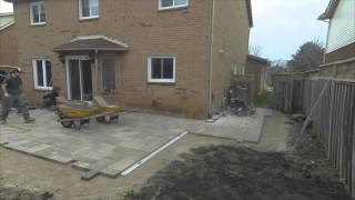 Resodding and Backyard Patio