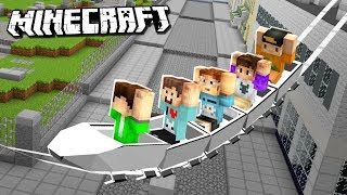 BUILDING OUR REAL LIFE HOUSE IN MINECRAFT! - Denis