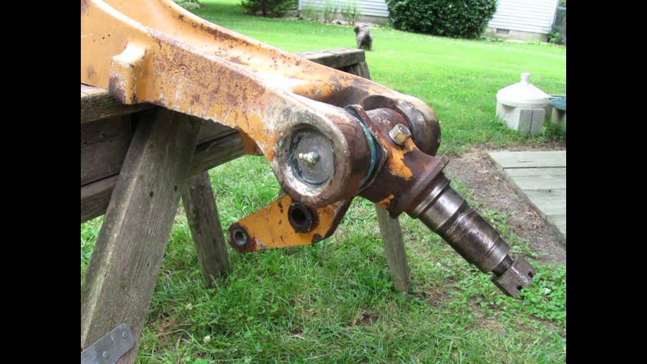 Case 580 Backhoe >> Welding a Front Axle on a 580 E Case Backhoe with an AC Arc Welder - YouTube