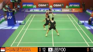 SF - MD - LEE Y.D. / YOO Y.S. vs M.AHSAN / H.SETIAWAN - 2013 Hong Kong Open