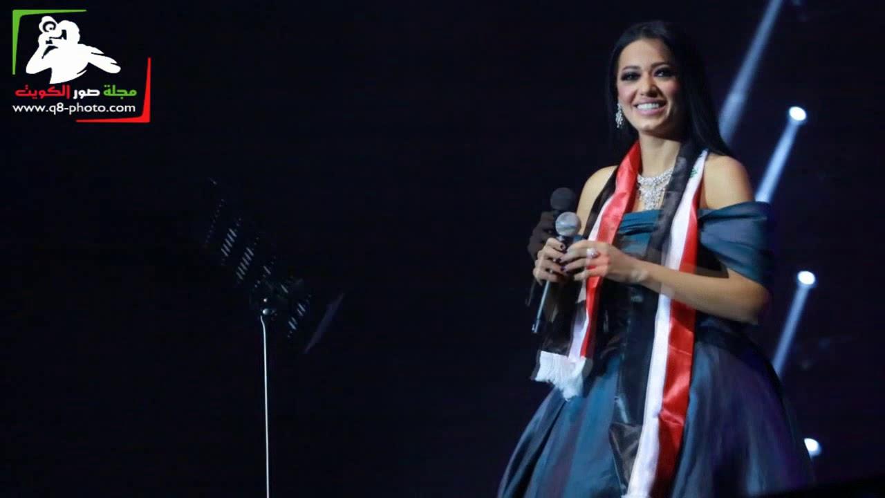 المطرب رحمة رياض تغني لـ العراق و تكرم من الجمهور بالعلم العراقي و الورود في قطر  حصري