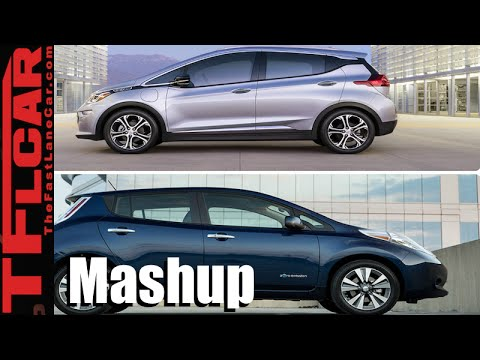 2017 chevy bolt vs 2016 nissan leaf ev mashup review an. Black Bedroom Furniture Sets. Home Design Ideas