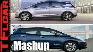 2017 Chevy Bolt vs 2016 Nissan Leaf EV Mashup Review: An Electric Car Rivalry is Born