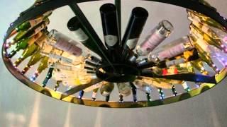 Kronleuchter mit Weinflaschen ca. 1400 mm Durchmesser .