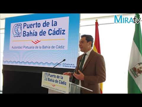 Juanma Moreno subraya el papel de los puertos andaluces para la recuperación