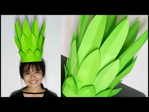 BEAUTIFUL PINEAPPLE LEAF CROWN NUTRITION MONTH DIY COSTUME FOR KIDS