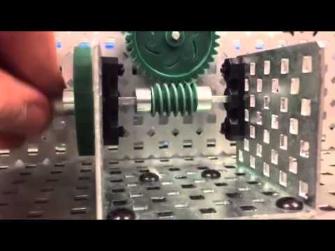 how to cut a worm wheel