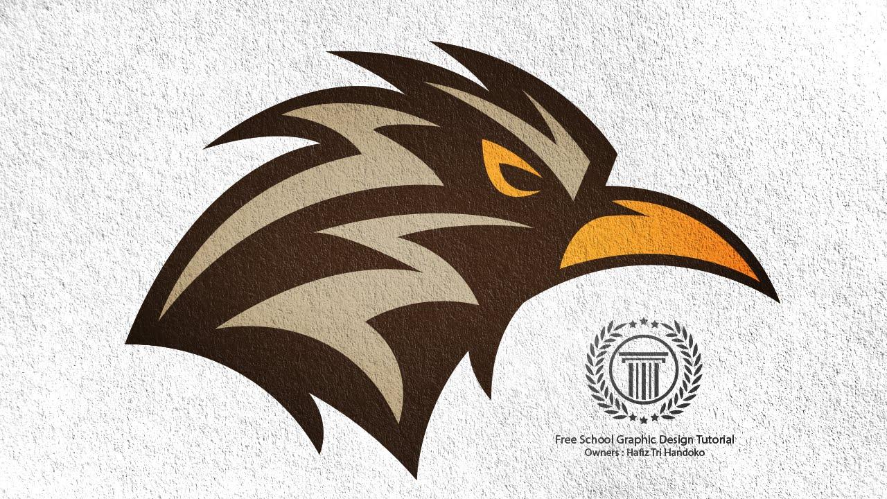Head Bird Logo Design Tutorial For Beginners / Adobe illustrator ...