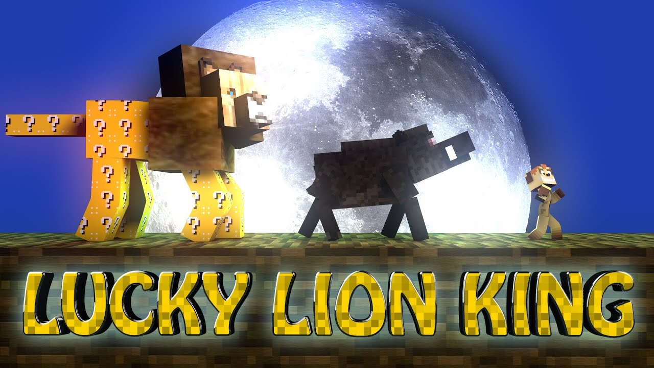 Lucky block lion king boss challenge lion king bosses scar lucky