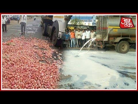 Maharashtra Farmers Go On Strike, Protest On Roads