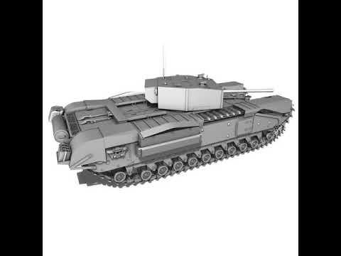 3D Model of Churchill Infantry Tank MK.III