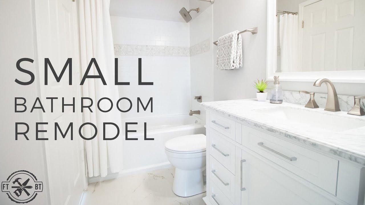 DIY Small Bathroom Remodel | Bath Renovation Project - YouTube on Small Bathroom Renovation  id=82479