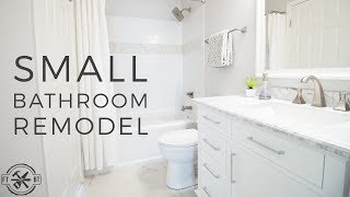 DIY Small Bathroom Remodel | Bath Renovation Project