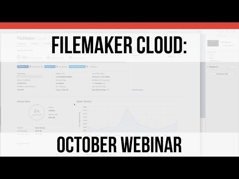 October Webinar on FM Cloud   FileMaker Cloud   FileMaker Pro 15 Training