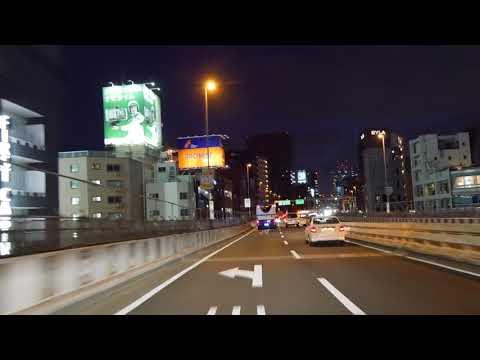 Tokyo Expressway night drive 4K 2018 晴海 荏原