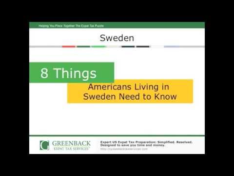 Expat Tax Advice for Americans Living in Sweden