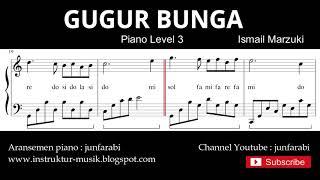 Gugur bunga not balok piano level 3 - lagu wajib nasional