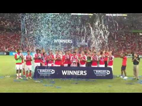 Highlights: Arsenal win Everton to take Barclay's Asia Trophy