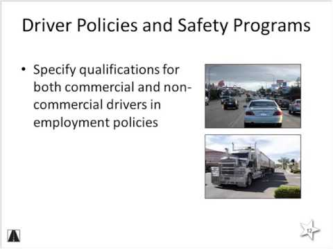 Occupational Driving Safety Programs:  The Roadway Workplace