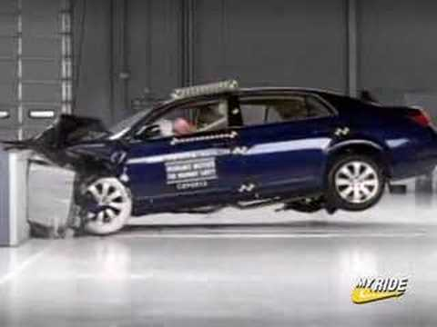 crash test 2005 toyota avalon youtube. Black Bedroom Furniture Sets. Home Design Ideas