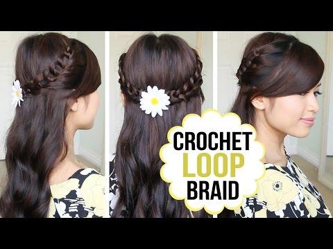 crochet-loop-braid-hair-tutorial- -half-updo-prom-hairstyle