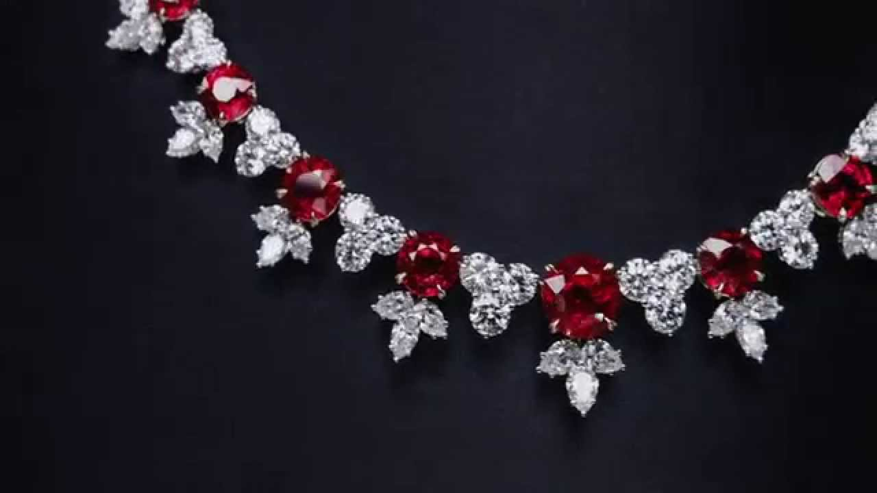 ruby and diamond cluster necklace youtube