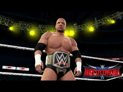 Roman Reigns vs.Triple H vs Seth Rollins - WWE World Heavyweight Champion: Wrestlemania 32, WWE 2K16