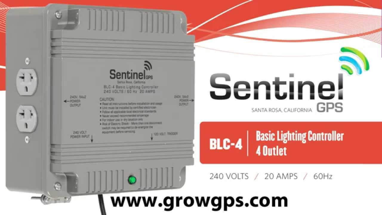 sentinel gps blc 4 basic lighting controller 4 outlet [ 1280 x 720 Pixel ]