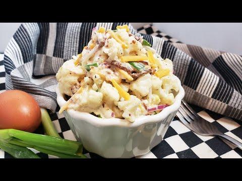 How To Make Keto Potato Salad | Keto Potato Salad Recipe | Keto Cauliflower Salad